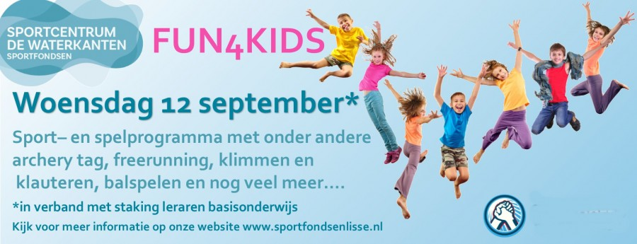Fun 4 Kids in De Waterkanten tijdens stakingsdag op 12 september.