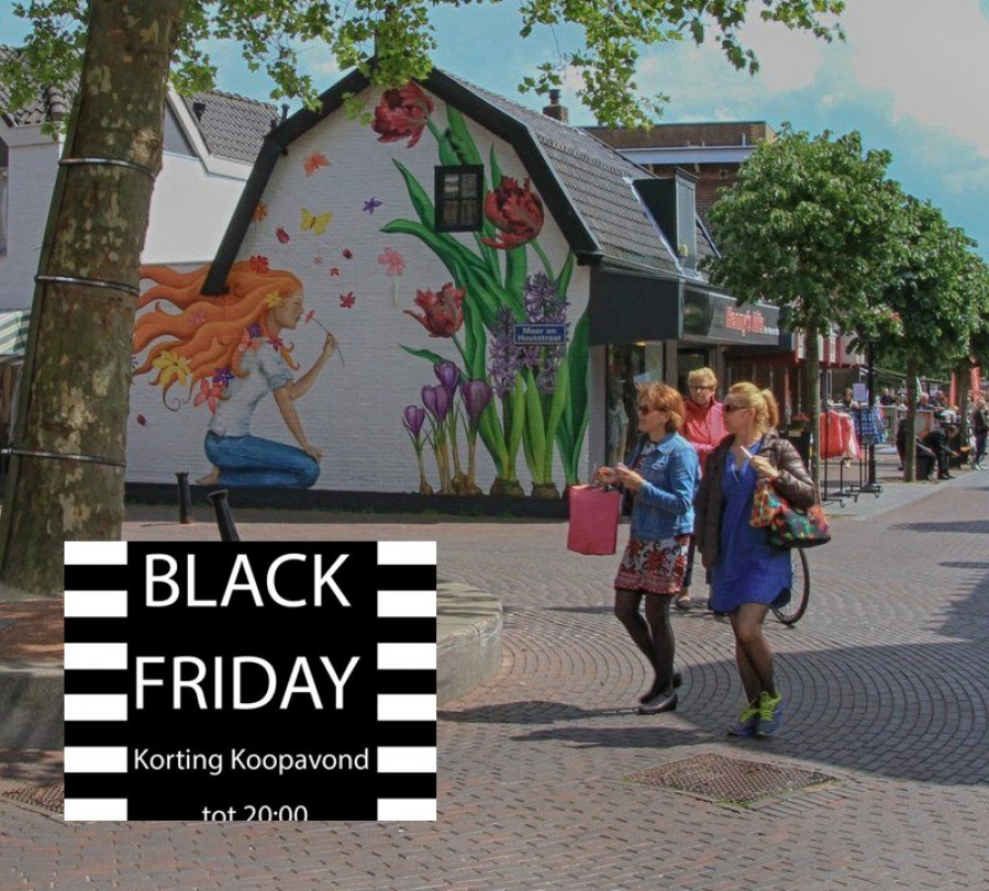Black Friday en extra koopavond in Dorpshart Lisse.